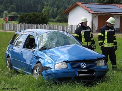 Verkehrsunfall verlief glimpflich