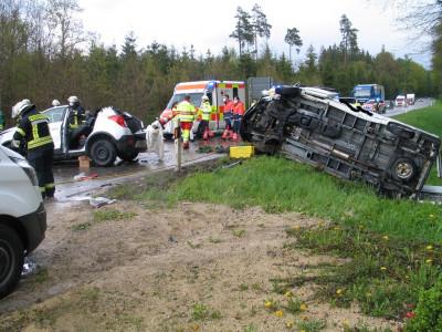 Unfall mit fünf Verletzten