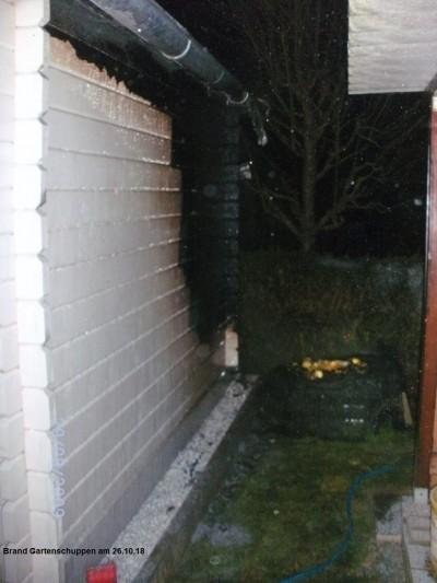 Brand Gartenschuppen am 26.10.18