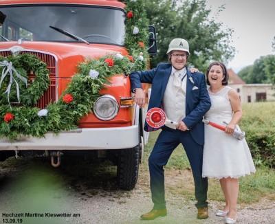 Hochzeit von Kameradin Martina und Holger Kiesewetter